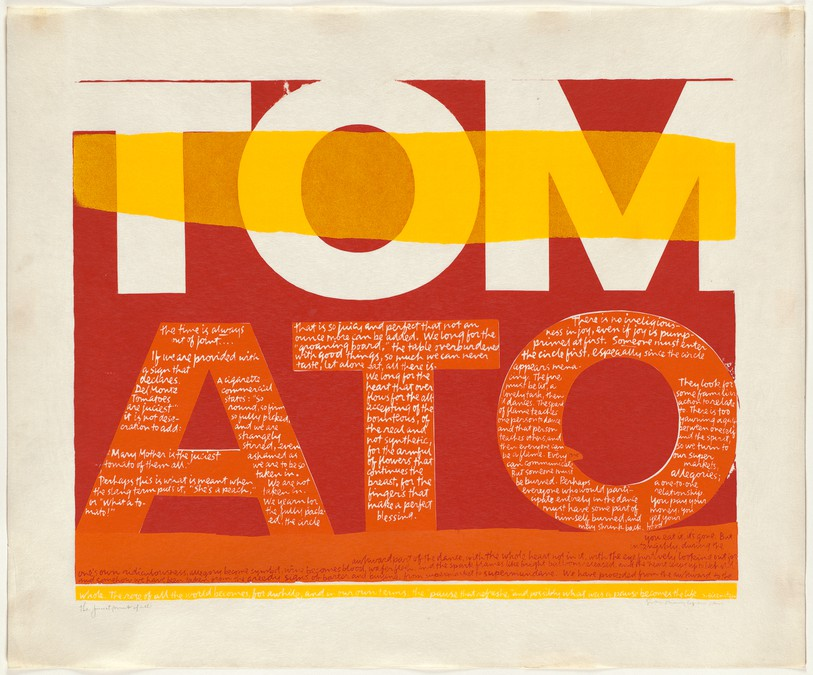 Pop art TOMATO print by artist and nun Corita Kent