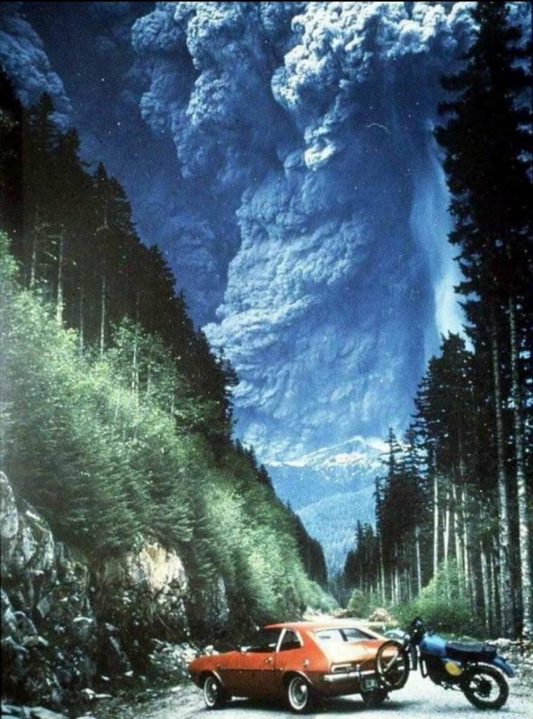 Photo of eruption of Mt. St. Helens — May 18th, 1980
