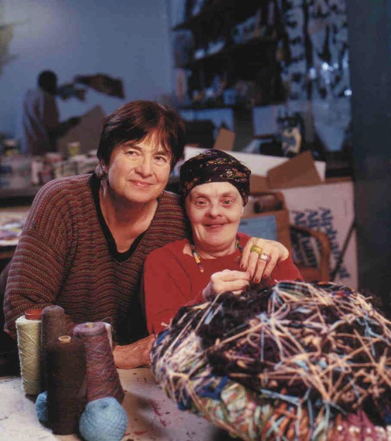 Sisters Joyce Wallace Scott and Judith Scott