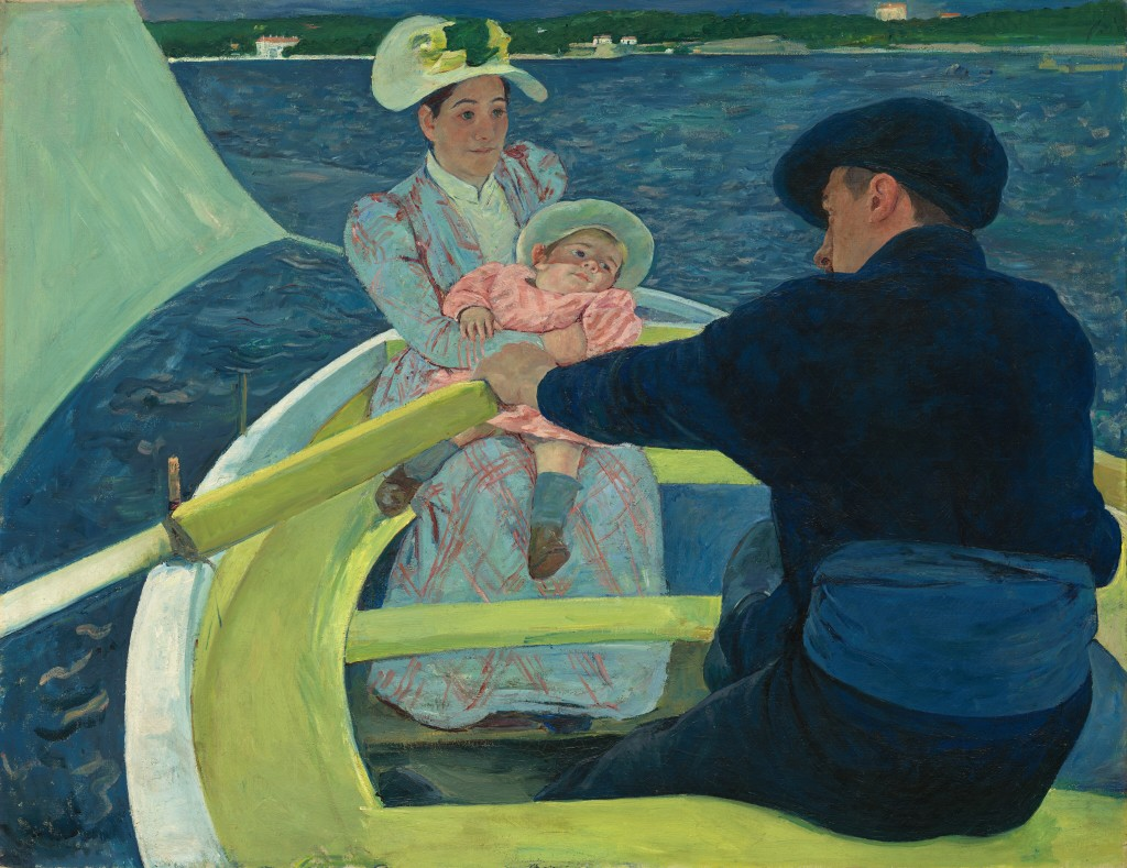 Image of the painting The Boating Party by American artist Mary Cassatt (1844-1926)